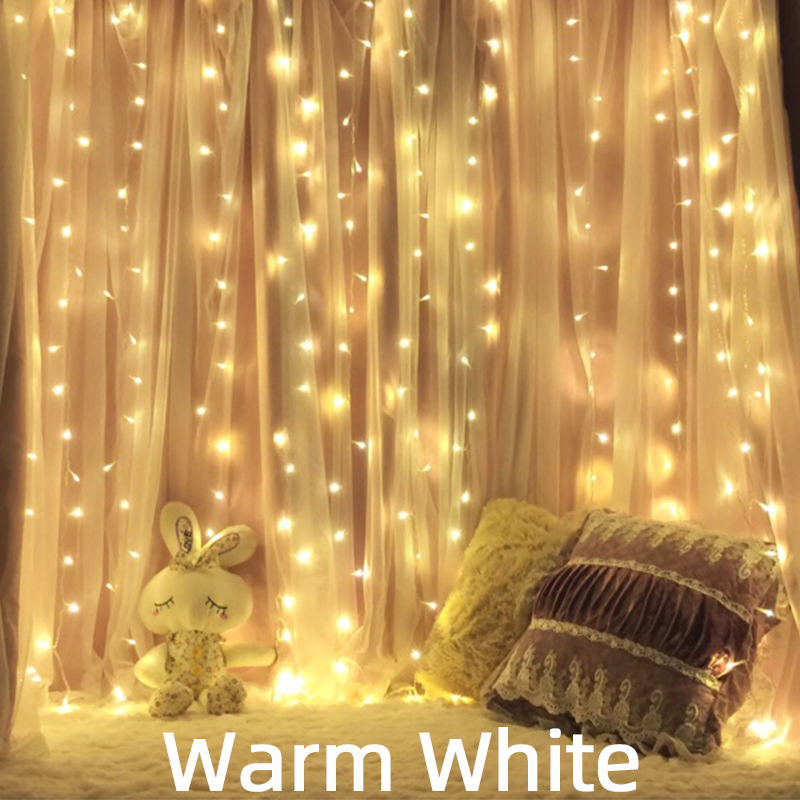 110V 220V LED Christmas Icicle Garlands Light String Fairy Curtains Lights Outdoor For Holiday Party Wedding New Year's  Decor