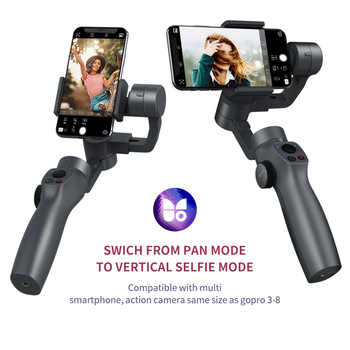 Funsnap Capture2 3 Axis Handheld Gimbal Stabilizer For Smartphones sports camaras Gopro Camera Action EKEN 1 Gimbal Kit