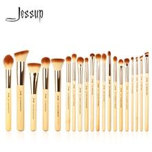 Conjunto de pincéis de maquiagem profissional, kit de pincéis de maquiagem de bambu para base, pó, sombreamento dos olhos 20 peças