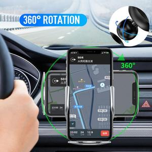 Автоматическое зажимное 15 Вт автомобильное беспроводное зарядное устройство для iPhone Xs LG инфракрасное Индукционное Qi Беспроводное зарядно...