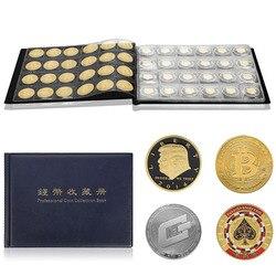 Pamiątkowa kolekcja monet zbieranie skórzanego albumu otwór na monety futerał do przechowywania 240 sztuk