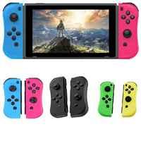 BEESCLOVER para NS joy-con (L/R) controladores de juegos inalámbricos Bluetooth mando Azul Rojo del Gamepad para la consola del interruptor Nintend r25