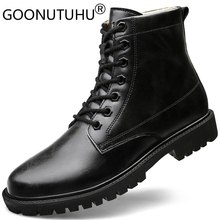 Autumn & winter Men's military boots genuine leather work shoes male young ankle boot army shoe man black or brown boots for men цены онлайн