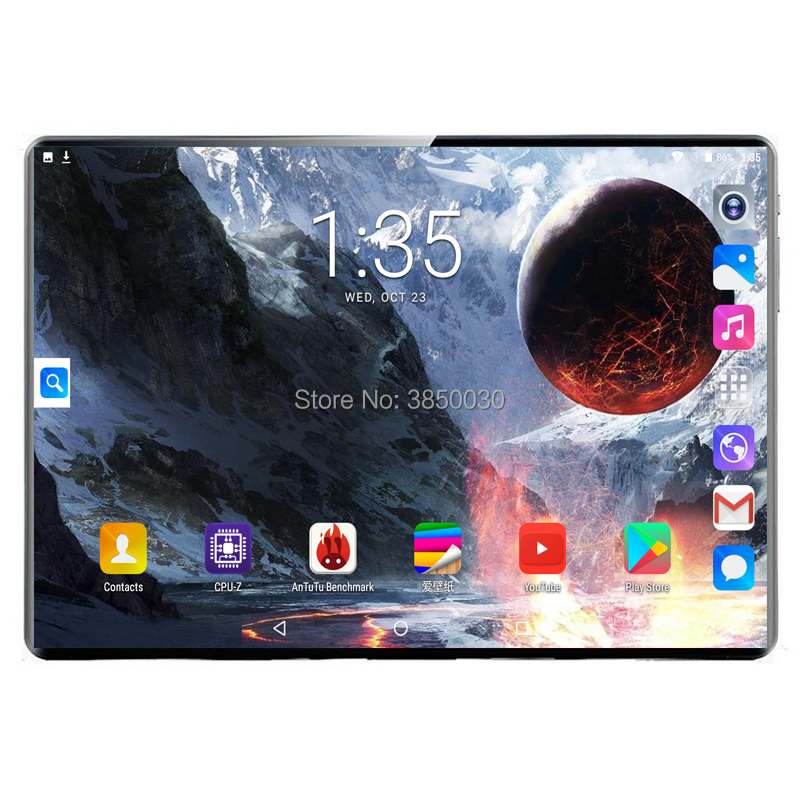 New 10.1 Inch 3G 4G LTE Tablet PC Deca Core 8GB RAM 128GB ROM 1920*1200 IPS 2.5D Tempered Glass 10 Tablets Android 9.0