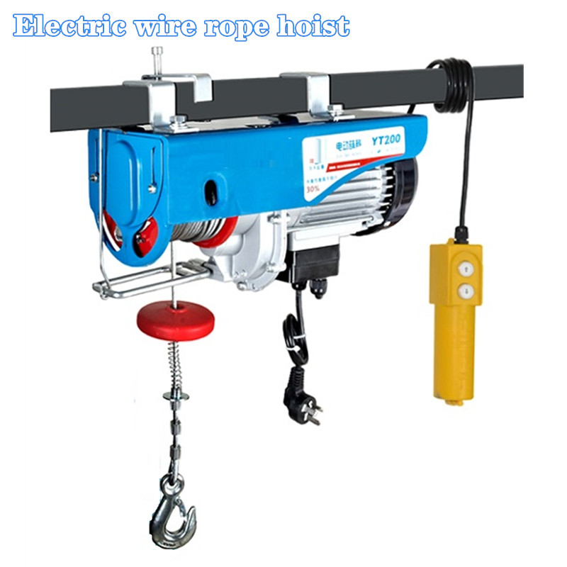 100-1200KG 20M 220V 50Hz 1-Phase Strong Quality Mini Electric Steel Wire Rope Hoist, Lifting PA Mini Block, Crane Equipment