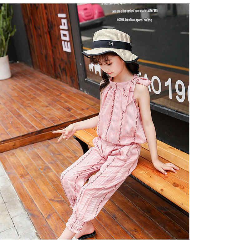 2020 bambino Insieme Dei Vestiti Della Ragazza Vestiti di Estate del Vestito Per Le Ragazze A Strisce Casual Abbigliamento Bambini Per 6 8 12 Anni Teenager costume dei bambini
