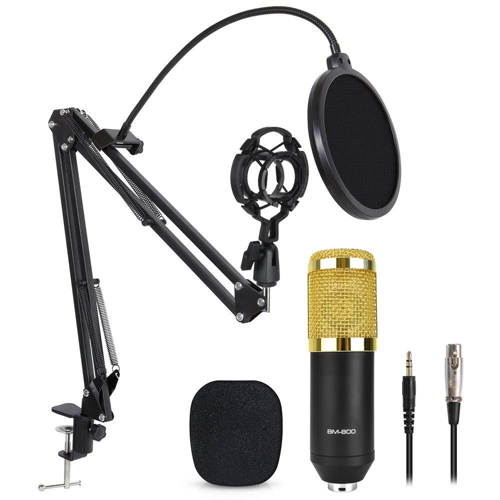 Karaoke Microphone BM 800 Studio Condenser Mikrofon Mic Bm800 For KTV Radio Braodcasting Singing Recording Computer BM-800