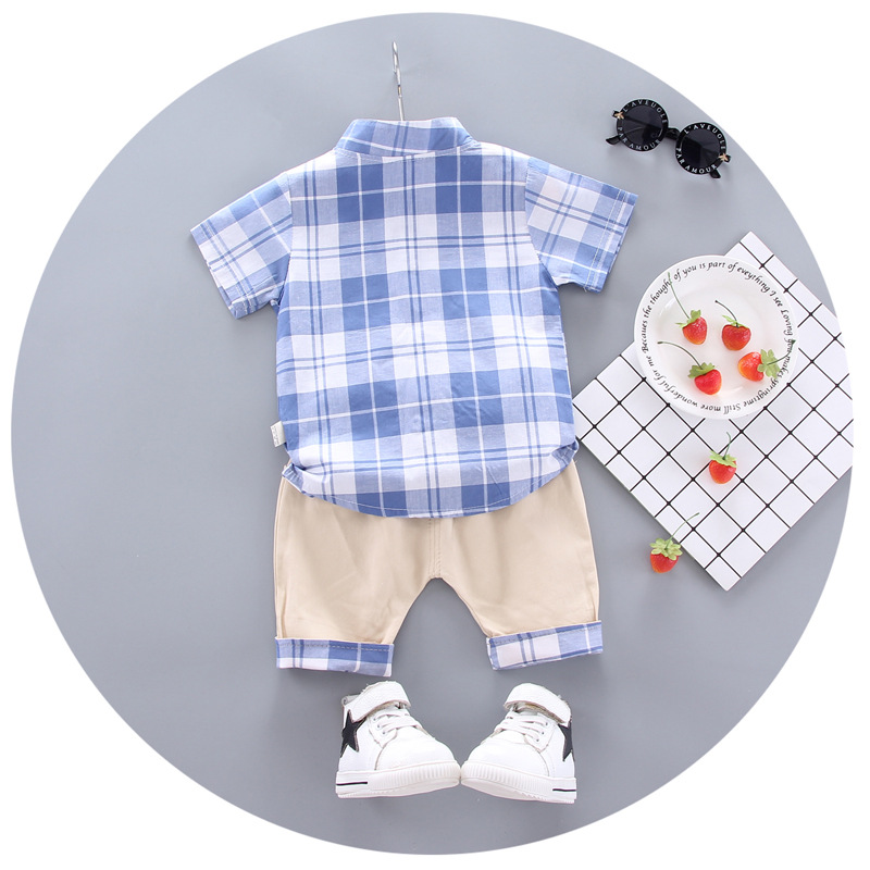 2020 summer  Boys shirt and Shorts Pants 2 pieces Clothing sets children's clothing Baby Boys clothes Children's Clothes Sets 5
