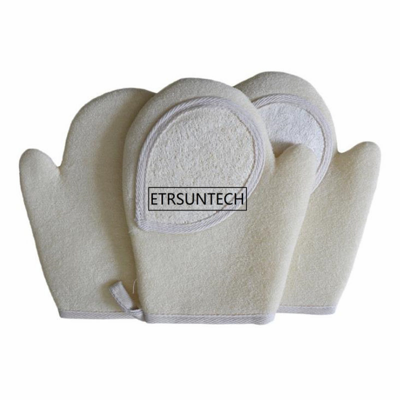 100pcs Loofah Bath Glove Natrual BAthroom Rub Towel Deep Cleaning Exfoliating Wash Skin Spa Massage Body Care Scrubber F3783