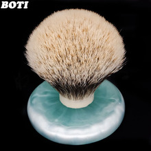 Boti brush-SHD Captain Finest  Three Band Badger Hair Bulb Type Knot Shaving Brush Knot Men's Shaving Brush
