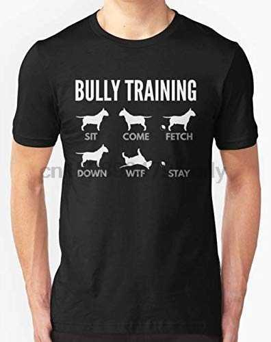Camiseta magro do ajuste do treinamento do bully do terrier do touro inglês para todos