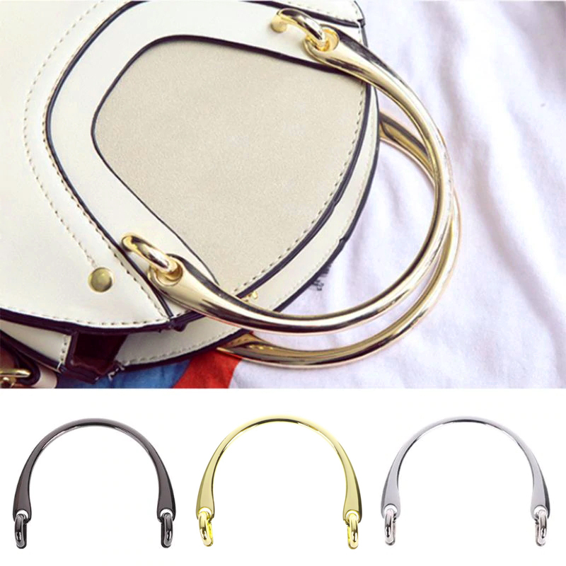 1 Pc Alloy Bag Handle Replacement Shoulder Strap DIY Handcrafted Handbag Part for DIY Purse bag accessories