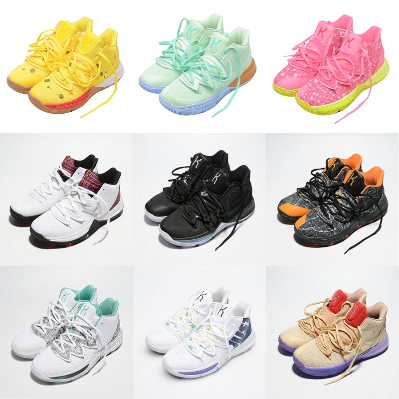 2020 New Arrival Mens Kyrie Shoes TV PE Basketball Shoes 5 Cheap 20th Anniversary Sponge X Irving 5s V Five Luxury Sneakers