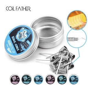 Image 4 - Coil Father Alien Coil King Ni80 Fused Clapton Ni90 Stagger Wire Prebuilt Coils Heat Resistance Electronic Cigarette