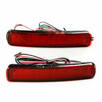 DHBH 2PCS LED Rear Bumper Reflector Brake Light for Toyota Highlander 2011 2012 2013 6W Auto Car Styling Tail Stop Lamp Warning