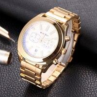 SHIWEIBAO Men's Quartz Chronograph Watch Luxury Sports Watch Date Display Waterproof Watch Clock Military Relogio Masculino