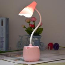 Flower LED Eye Protector Lamp Bedside Night Lamp Small Table Lamp