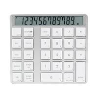 Bluetooth 2-In-1 Numeriek Keypad Calculator Display Schakelaar Lading Rekenmachine Draagbare Mini Computer