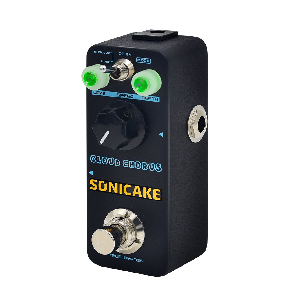 SONICAKE Cloud Chorus Guitar Effects Pedal Classic BBD-Style Analog Chorus Sound Guitar Patch Cable Included QSS-04