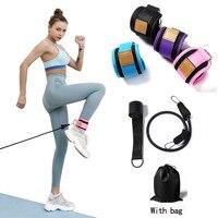 Bandas de resistencia para el tobillo, doble anillo en D, correa de protección del tobillo, equipo de gimnasio para Fitness, bandas elásticas de entrenamiento de piernas, 4 Uds.