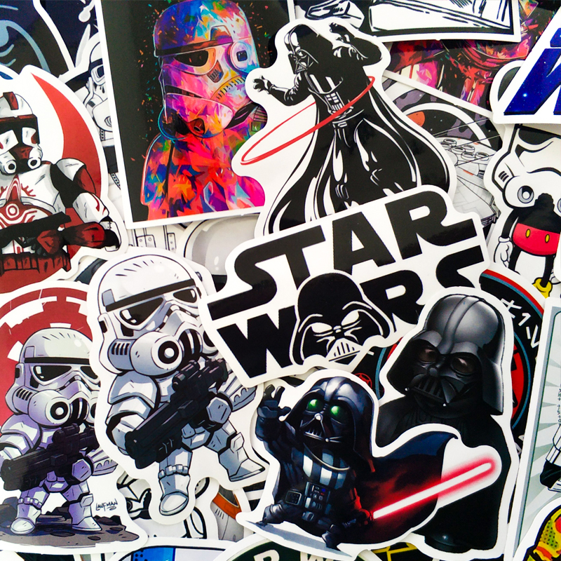 50 Pcs Planet Wars Stickers Baby Yoda Toy Star Styling Decal Stickers For Graffiti Car Covers Skateboard Motorcycle Stickers