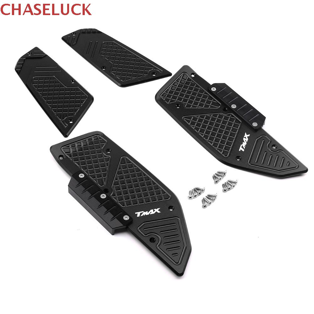 For Yamaha T Max Tmax 530 Tmax530 2017 2018 2019 Motorcycle Front Rear Footboard Steps Footrest Pedal Foot Plate Accessories CNC