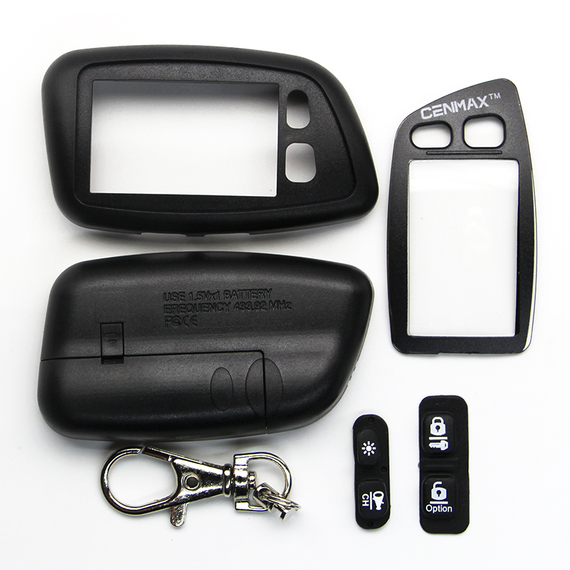 Case For CENMAX ST-5A Russian LCD Remote Control For CENMAX ST5A 5A LCD Keychain Car Remote 2-way Car Alarm System