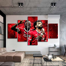 Liverpool Mohamed Salah Posters 5 Pieces Canvas Art Soccer Stars Football Posters Sports Posters Kids Room Home Decor Frame все цены