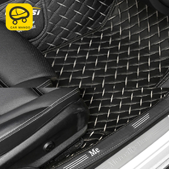 CarManGo for Mercedes Benz C Class W205 2016-2019 Car Styling Leather Floor Protector Cover Mat Pad Carpet Interior Accessories