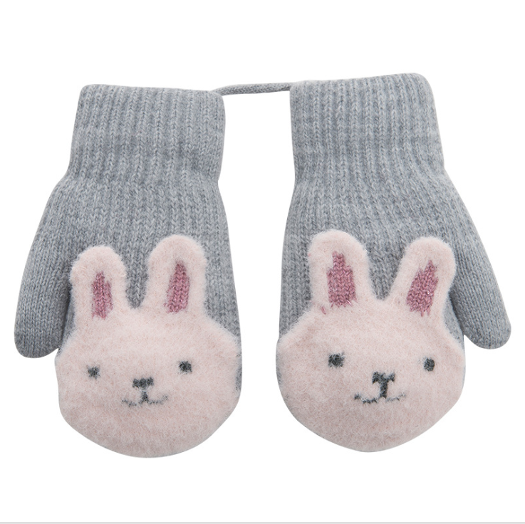 Korean Cute Cartoon Warm Student Knitting Bag Refers To Children's And Girls' Gloves In Winter
