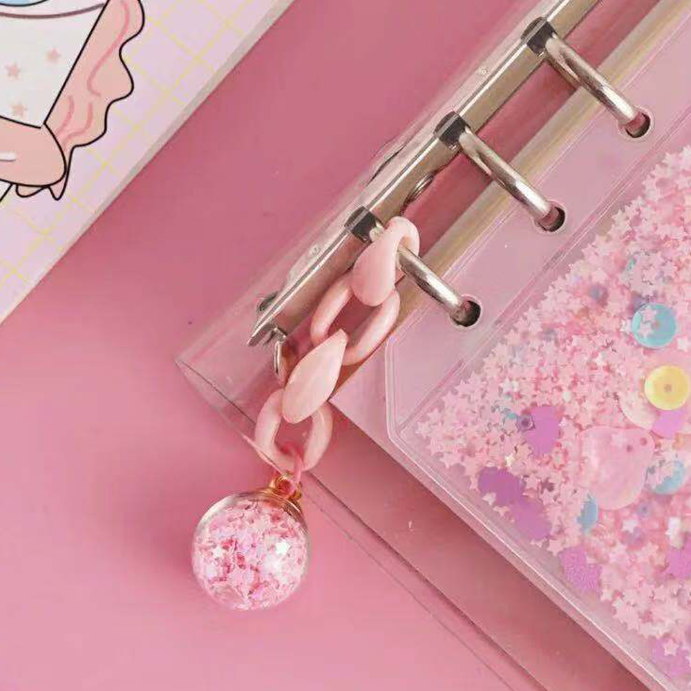 1 Pcs  Kawaii Creative Sequin Hanging Ornament Bookmark  Planner Notebooks Accessories Stationery Supplies