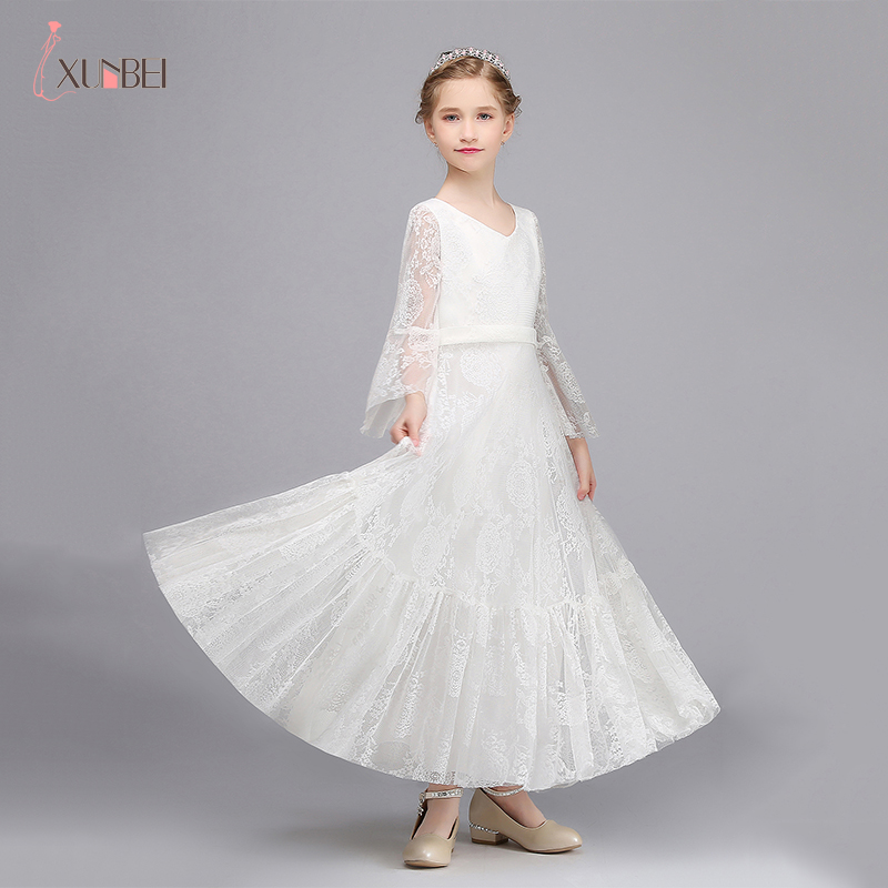 2-3 Years In Stock Princess Flower Girl Dresses Girls Pageant Dresses Lace First Communion Dresses Evening Party Dresses