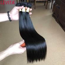 Weave Bundles Hair-Extension Brazilian-Hair Deals Straight 100%Human-Hair LEVITA Non-Remy