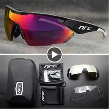 NRC 탑 브랜드 사이클링 안경 남성용 자전거 안경 UV400 사이클링 선글라스 Gafas Ciclismo TR90 MTB 로드 바이크 스포츠 선글라스