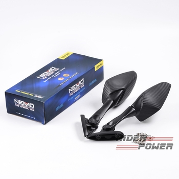 For YAMAHA Nmax155 Nmax 155 125 N-MAX Modified Motorcycle Parts Carbon Fiber Back Side Rearmirror Rear View Mirrors Short Modle