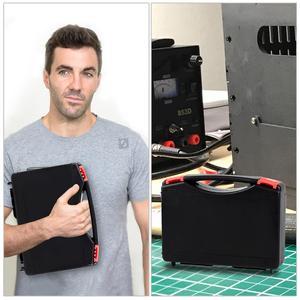 Image 5 - JCD Juego de caja de plástico para soldar temperatura ajustable, 220V 80W, kit de herramientas de reparación de soldadura con estera de trabajo de aislamiento térmico ESD