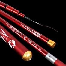 3.6m-7.2m Telescopic Fishing Rod Carbon Fiber Fishing Pole Ultra-light Carp Rod super hard Stream Hand rod Tai wan fishing J214 fly fishing combo 5wt 9ft carbon fiber fly rod