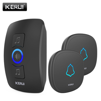 KERUI Wireless Doorbell Waterproof Touch Button LED light Cordless Smart Home Door Bell Chime Kit with 32 Chimes Door bell Alarm