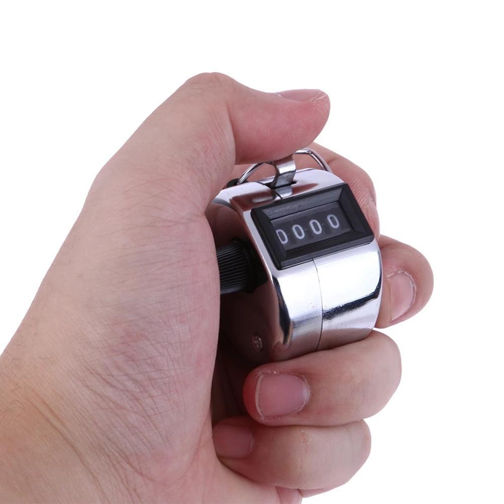 4 цифры номер счетчики ручной палец механический ручной подсчет таймер Спорт на открытом воздухе футбольного поля для гольфа с кольцом для ...