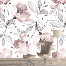 3d Wallpaper Murals Rose-Flower Living-Room Background Roll Vinyl Home-Decor Vintage