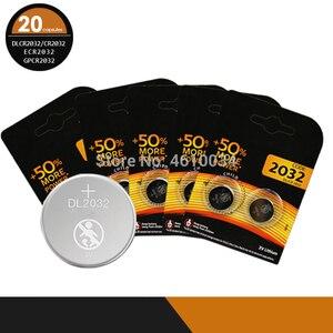 20 piezas de batería CR2032 baterías 2032 3V DURACELL de litio tipo botón pila de moneda pilas para reloj 5004LC ECR2032 DL2032 KCR2032