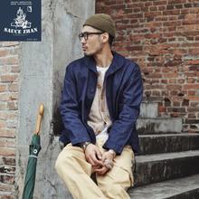 SauceZhan US Navy Deck Jacket Man Jeans Jacket Water Wash De