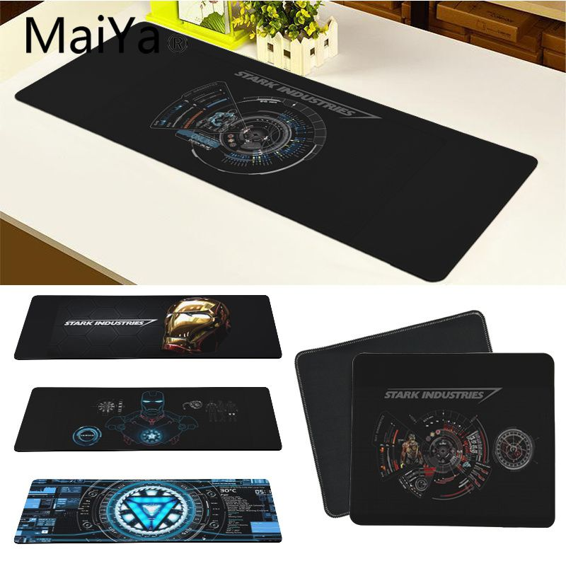 Maiya Marvel Iron Man Jarvis Stark Industries Rubber Mouse Durable Desktop Mousepad Free Shipping Large Mouse Pad Keyboards Mat