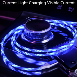 Car LED Glow Flowing Data USB Charger Charging Cable For Ford Focus 2 3 Fiesta Mondeo Kuga Citroen C4 Skoda Octavia Rapid Superb(China)