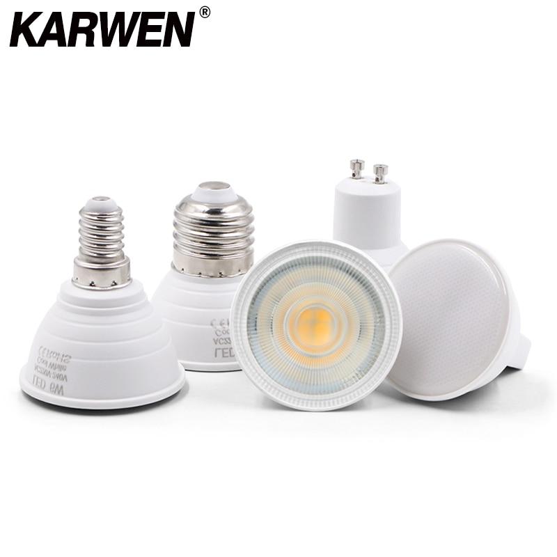 KARWEN Bombillas LED Lamp GU10 GU5.3 MR16 E27 E14 Lampada LED Bulb 6W 220V LED Spotlight Lampara Spot Light For Living Room