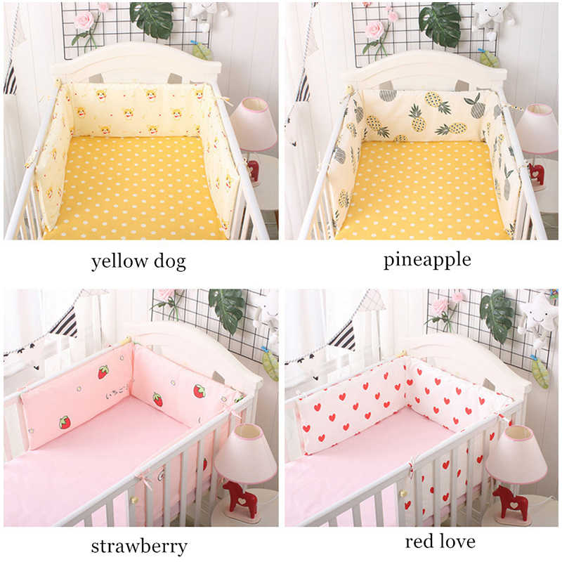 כתר דפוס 180*30 cm עריסה פגושים U/L צורת תינוק סט מצעים המיטה סביב מגן תינוקות מיטה ראש להגן על כרית חתיכה אחת