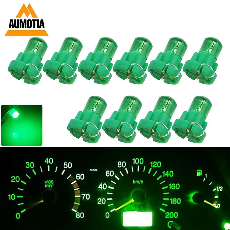 10x T5 Car LED Lights T3 T4.2 T4.7 B8.5 LED Interior Lamp Dashboard Auto Gauge Instrument Light DC 12V
