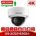 Original hikvision 8mp câmera ip poe ao ar livre DS-2CD2183G0-I câmera de segurança dome h.265 com slot para cartão sd & 30m visão noturna
