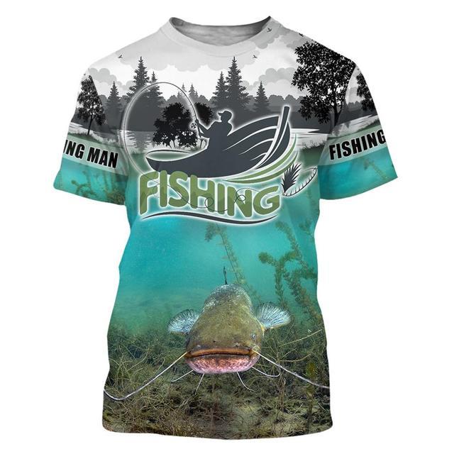 Catfish river Fishing T Shirt All Over Print