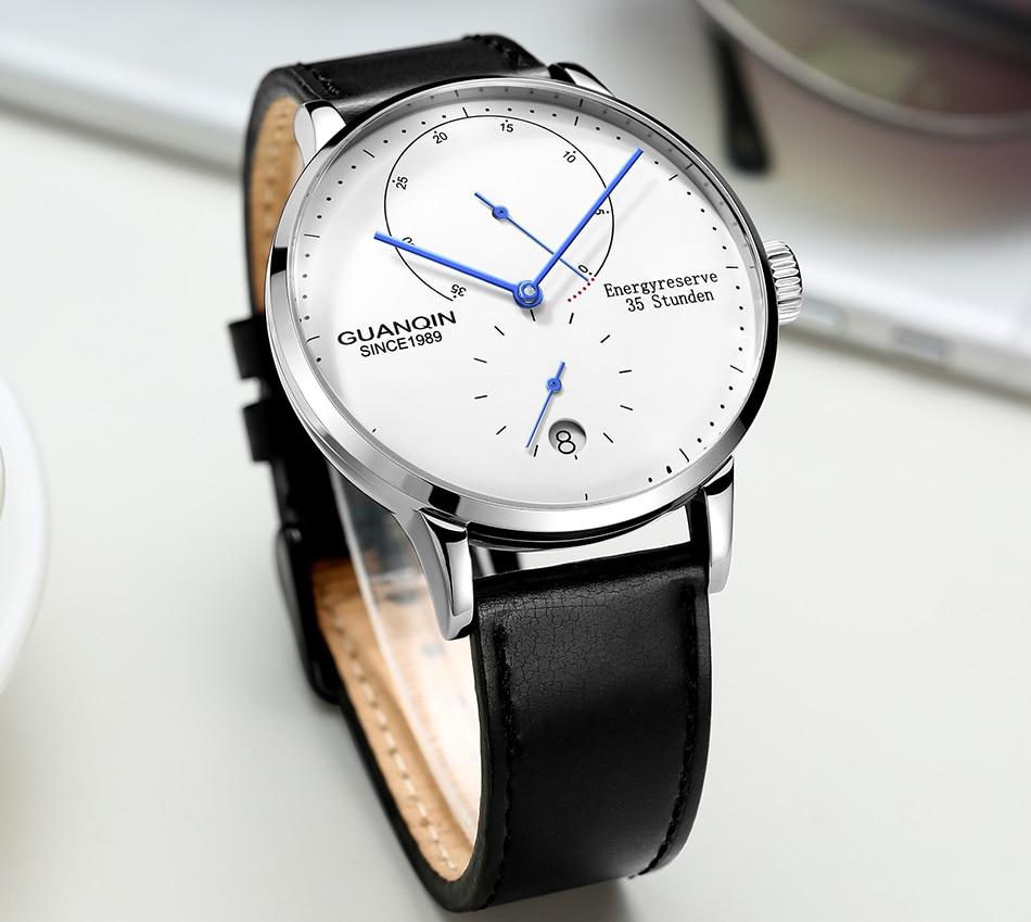 GUANQIN Mechanical Watch Men Business Fashion Automatic Watches 316L stainless steel Top Brand Luxury Luminous Wristwatch Clock Mechanical Watches  - AliExpress